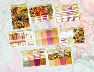 Meal planning Deluxe kit | Standard Vertical Planner Stickers