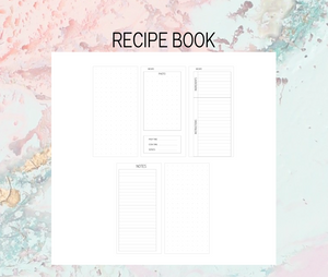 Recipe book Plan B Planner | Foil Planner Stickers | Standard vertical planner