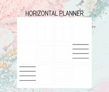 Load image into Gallery viewer, Horizontal Plan B Planner | Foil Planner Stickers | Standard vertical planner