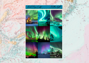 Northen Lights Deluxe kit | Standard Vertical Planner Stickers