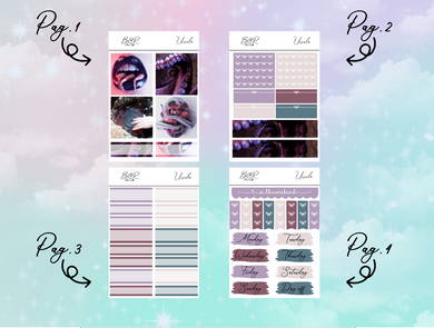 Ursula PP Weeks kit | EC Planner Stickers
