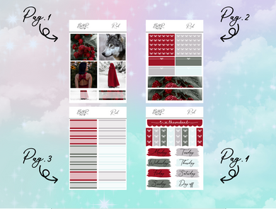 Red PP Weeks kit | EC Planner Stickers