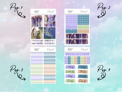 Rapunzel PP Weeks kit | EC Planner Stickers