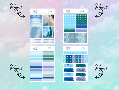 Elsa PP Weeks kit | EC Planner Stickers