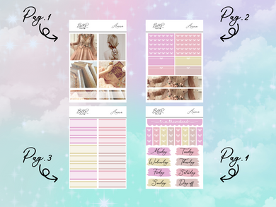 Aurora PP Weeks kit | EC Planner Stickers