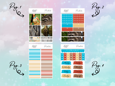 Pocahontas PP Weeks kit | EC Planner Stickers