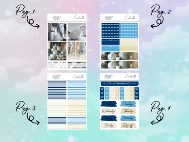 Cinderella PP Weeks kit | EC Planner Stickers