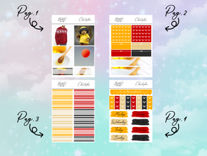 Christopher PP Weeks kit | EC Planner Stickers