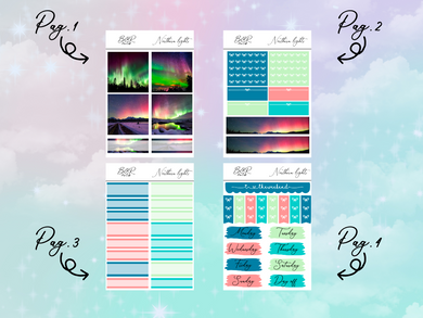 Northern Lights PP Weeks kit | EC Planner Stickers