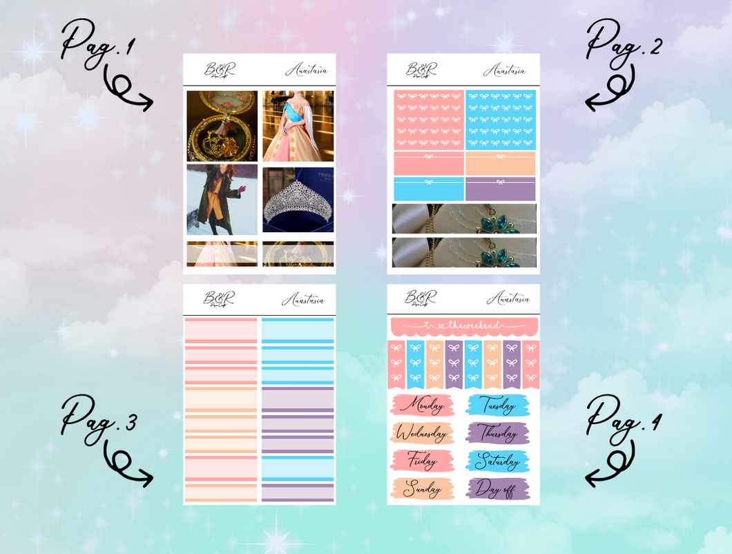 Anastasia PP Weeks kit | EC Planner Stickers