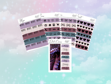 Ursula PP weeks add on | Foil Planner Stickers| EC Planner Stickers
