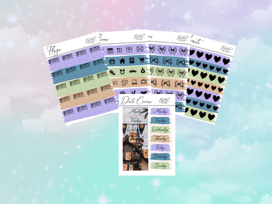 Rapunzel PP weeks add on | Foil Planner Stickers| EC Planner Stickers