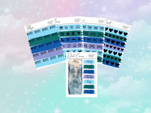Elsa PP weeks add on | Foil Planner Stickers| EC Planner Stickers