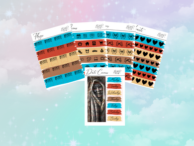 Pocahontas PP weeks add on | Foil Planner Stickers| EC Planner Stickers
