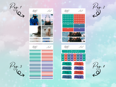 Ariel PP Weeks kit | EC Planner Stickers