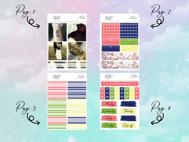 Mulan PP Weeks kit | EC Planner Stickers