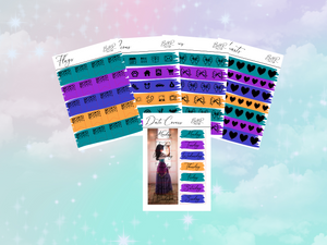 Emerald PP weeks add on | Foil Planner Stickers| EC Planner Stickers