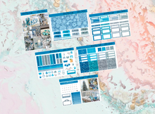 Load image into Gallery viewer, Blue Christmas Mini kit | Standard Vertical Planner Stickers