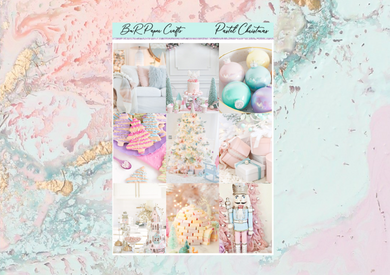 Pastel Christmas Mini kit | Standard Vertical Planner Stickers