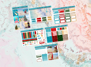 Christmas in July Mini kit | Standard Vertical Planner Stickers