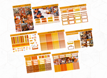 Load image into Gallery viewer, Pumpkin Spice Deluxe kit | Standard Vertical Planner Stickers