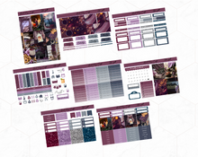 Load image into Gallery viewer, Lilac fall Deluxe kit | Standard Vertical Planner Stickers