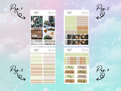 Cozy time PP Weeks kit | EC Planner Stickers