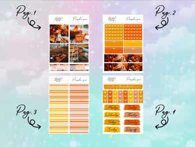 Pumpkin spice PP Weeks kit | EC Planner Stickers