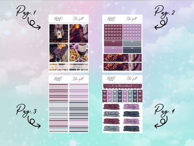 Lilac fall PP Weeks kit | EC Planner Stickers