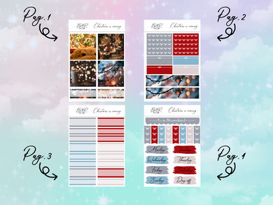 Christmas is coming PP Weeks kit | EC Planner Stickers