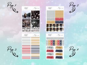 Magic snow PP Weeks kit | EC Planner Stickers