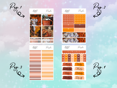 Pumpkin PP Weeks kit | EC Planner Stickers