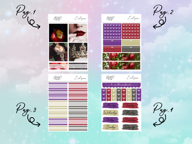 The evil queen PP Weeks kit | EC Planner Stickers
