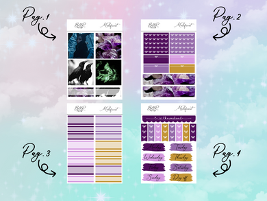 Maleficent PP Weeks kit | EC Planner Stickers