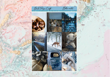 Load image into Gallery viewer, Blue winter Deluxe kit | Standard Vertical Planner Stickers