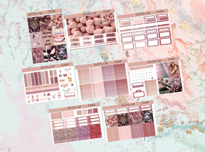 Pink babe Deluxe kit | Standard Vertical Planner Stickers
