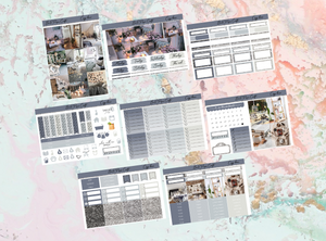 Cozy home Deluxe kit | Standard Vertical Planner Stickers