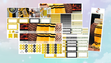 Hufflepuff Monthly kit | EC Planner Stickers