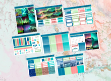 Load image into Gallery viewer, Northen Lights Deluxe kit | Standard Vertical Planner Stickers