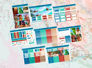 US RTS Moana movie Deluxe kit | EC Planner Stickers