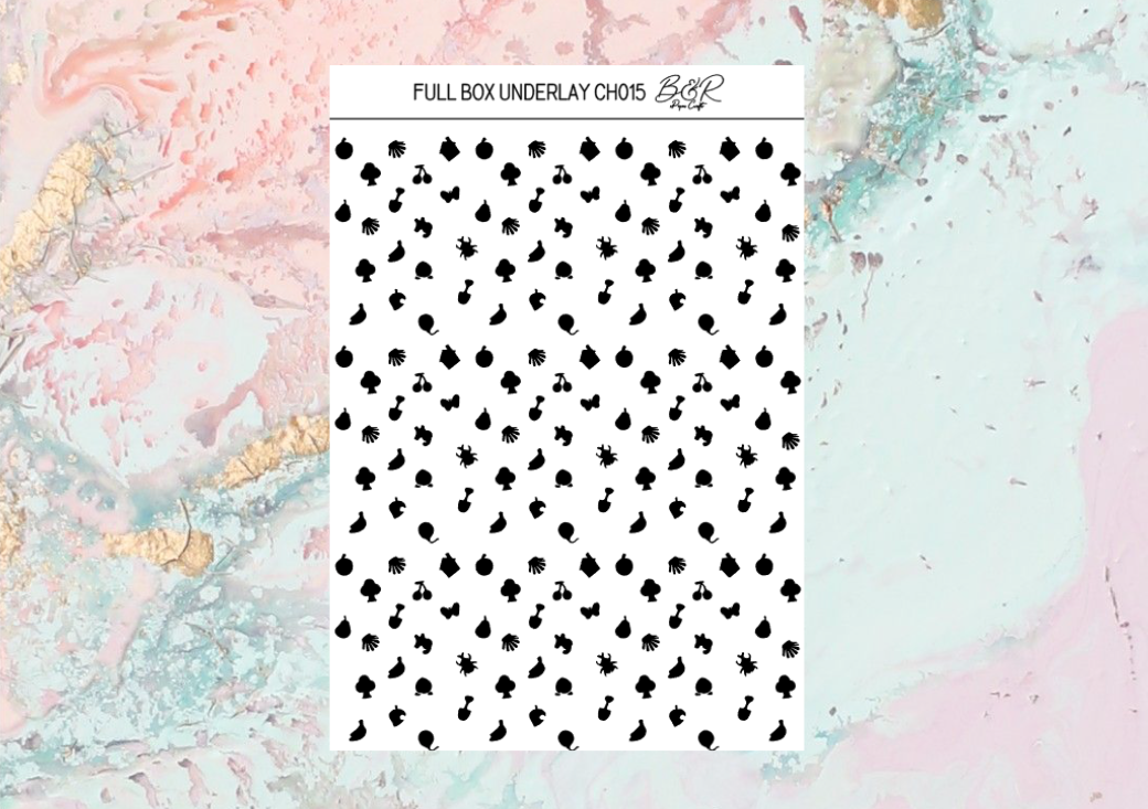 UNDERLAYS foil full boxes | Foil Planner Stickers