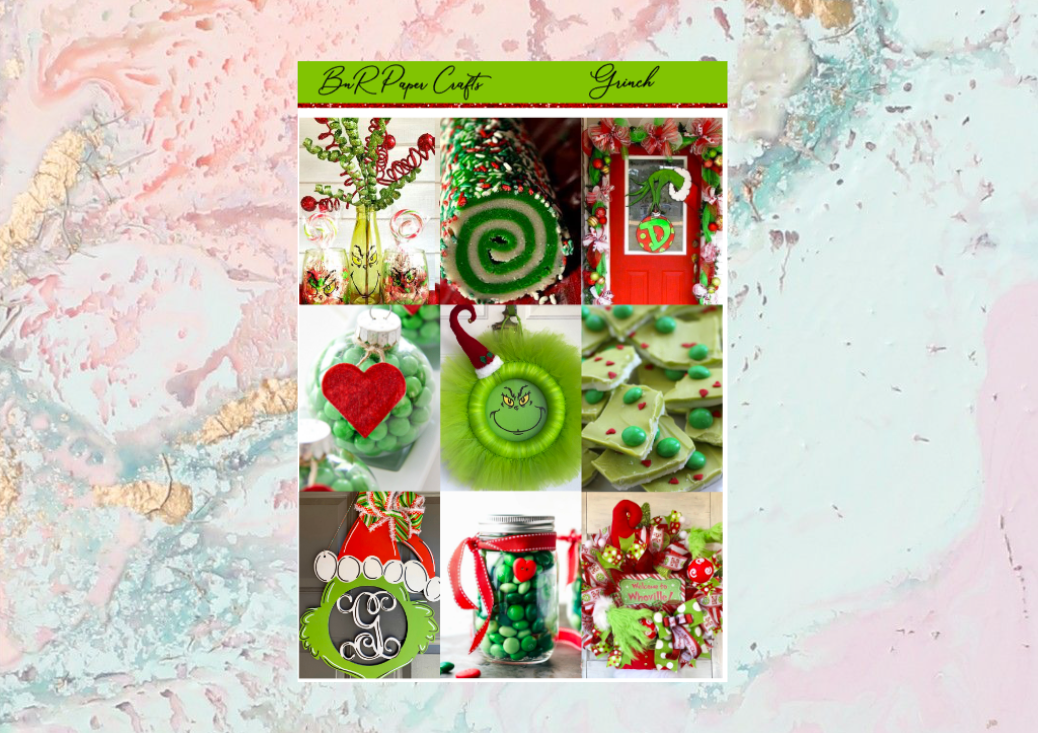 Grinch Mini kit | Standard Vertical Planner Stickers
