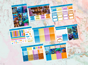 US RTS Ocean Deluxe kit | Standard Vertical Planner Stickers