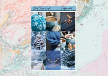 Load image into Gallery viewer, Coffee winter Mini kit | Standard Vertical Planner Stickers