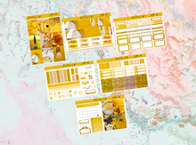 Load image into Gallery viewer, Yellow vibes Mini kit | Standard Vertical Planner Stickers