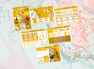 Yellow vibes Mini kit | Standard Vertical Planner Stickers