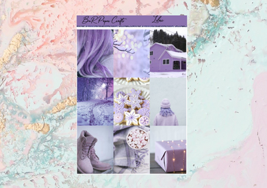 Lilac Deluxe kit | Standard Vertical Planner Stickers