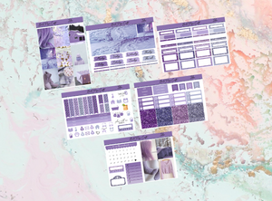 Lilac Mini kit | Standard Vertical Planner Stickers