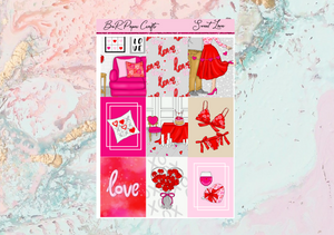 Sweet Love Deluxe kit | Standard Vertical Planner Stickers