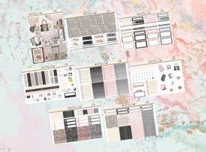 Chic Deluxe kit | Standard Vertical Planner Stickers